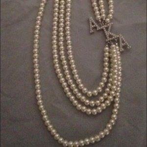 Alpha Kappa Alpha pearl like necklace